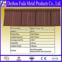 China Manufacturer Building Material Low Price Shingle metal roofing tile with stone chips coating