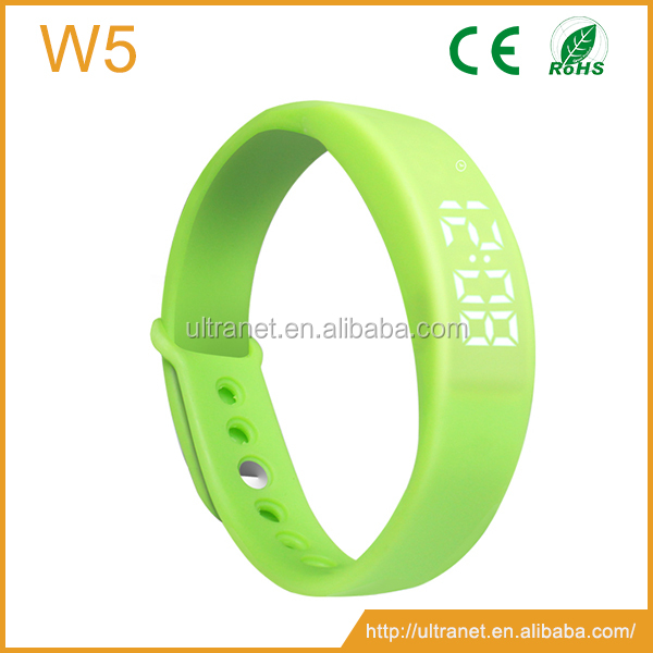 Ufit W5 3d Pedometer Smart Bracelet Healthy Tracker Rubber Band Bracelets