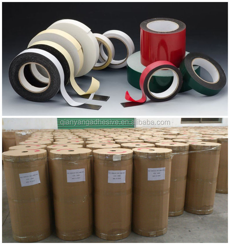 Factory made jumbo roll adhesive tape : Double side tissue tape, Foam tape, Masking tape