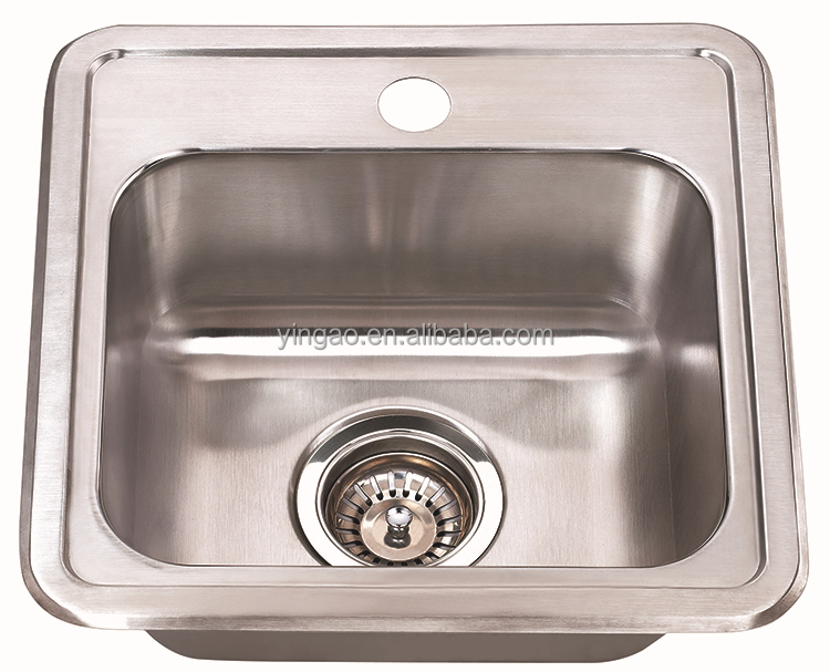 1515 single bowl undermount stainless steel industrial kitchens sink