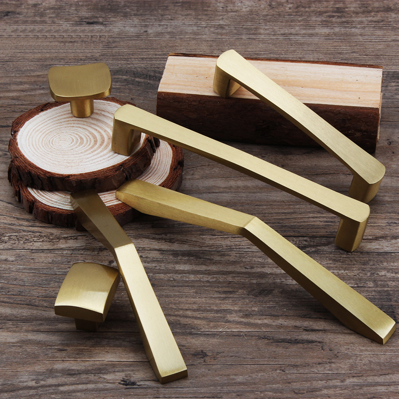 Gold kitchen cabinet brass pull handle Cupboard Door Pulls Drawer/dresser Knobs Furniture Handle Hardware <strong>C</strong>-1011