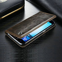 For Samsung Galaxy S6 Edge G925 Fashion Luxury Magnetic Leather Hard Case Cover Black Skin Flip Case