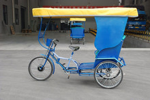 High quality pedicab/rickshaw/three wheel pedal bike for passengers
