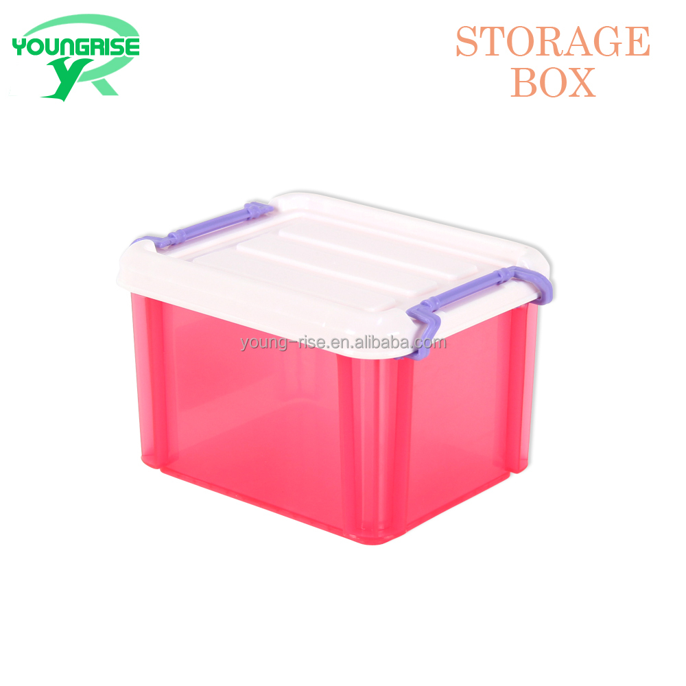 Wholesale Virgin PP Material Stackable Storage Container Plastic Transparent Box For Toy Storage