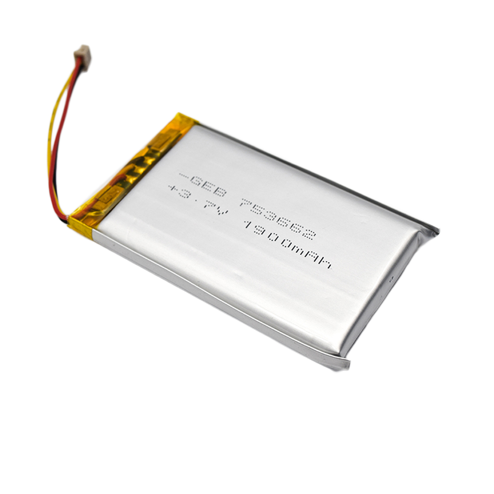 High capacity rechargeable flat lipo 3.7v 1900mah battery for robots