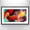 Starry Space World Canvas Wall Art ,Star Galaxy Art for Wall Decor,Framed and Stretched Ready to Hang on the Wall