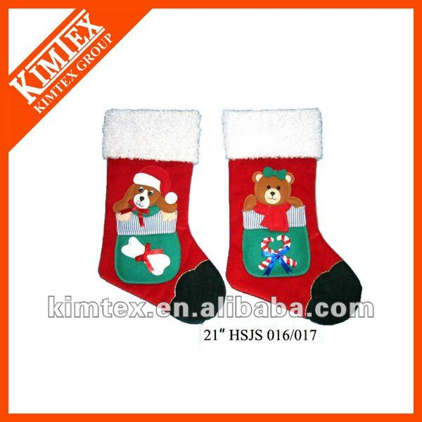 Top Quality promotional dog design christmas sock