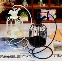 home Decoration Candle Lamp Stand Bird cage metal Iron Candle Holder