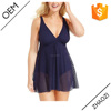 summer fashion plus size ladies crochet flyway swimdress navy dress