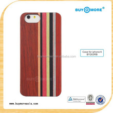 2015 Hot Sale Unique Mobile Phone Accessories Wooden case for iphone 6s 6 plus Natural Rosewood Colored Wood Cover