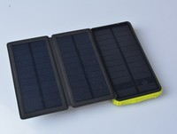 2016 New Solar Charger Folding Solar Panel 10000mAh Water/ Shock/ Dust Resistant Portable Backup Power Bank Dual USB Charger