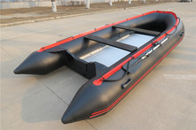 8 person pvc inflatable boats ASD-380 black with red trim with CE for sale!!!