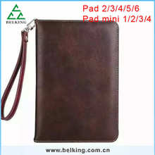 For ipad2 3 4 5 6 Tablet Leather Case/Handbag Tablet Case With Strap For Ipad mini 1 2 3 4
