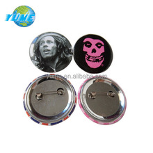 Custom Printed Photos 38mm Skull Tin Badge