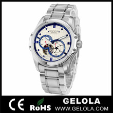 Classic japan mov't stainless steel watch tourbillon mechanical watch