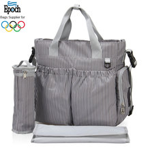 Polyester weekender designer tote baby mother bag with cute baby change pad