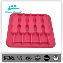 100% food grade 4 hole silicone shot glass/novelty silicone ice cube tray/customized silicone cube tray