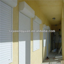 Security Aluminum Roller Shutter Exterior Window With Pu Foam