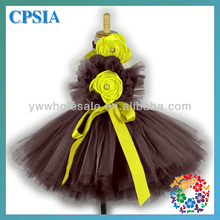 Latest Fashion Dresses Wholesale 3 Layer Tulle Flower Baby Girl Birthday Party Tutu Dress