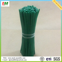 White Color Paper Plastic Coated Metal Wire Twist Tie for Packing
