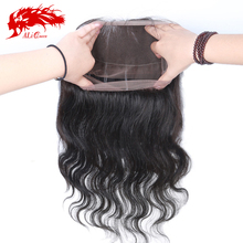 "New arrival new style 14"" 360 frontal closure raw virgin unprocessed human hair ali queen hair"