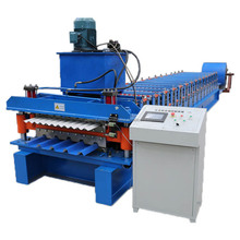 Aluminum Roofing Sheet Roll Forming Machine Double Layer Metal Tile Making Machine In China