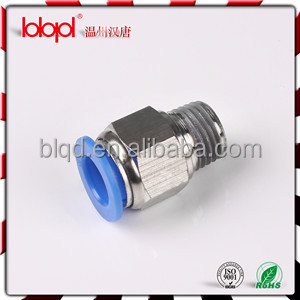 Hexagon air hose connector/male straight fitting/PC male threaded straight