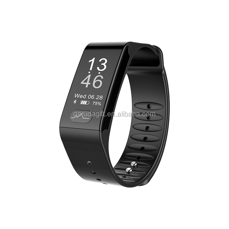The latest ECG&PPG smart bracelet touch screen activity fitness tracker with heart rate blood pressure family group share