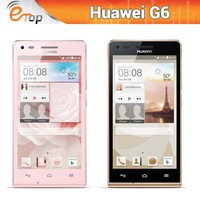 4.5 Inch Huawei G6 Smartphone Snapdragon MSM8612 Quad Core With Android 4.3 1GB+4GB Dual Camera 960X540 Pixels