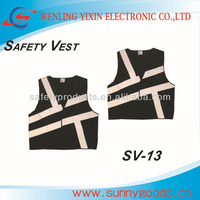 black high visibility reflective safety vest