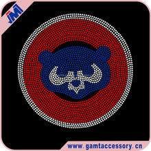 Rhinestone Transfer Iron On Chicago Cubs Baseball Custom For T-Shirt Wholesale