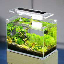 Small acrylic mini aquarium fish tank office table stand fish aquarium for sale