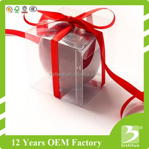 Supplier Accept Custom PVC PET plastic gift packaging box