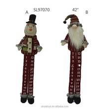 Fabric Christmas santa snowman Advent Calendar With Long Leg