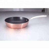 granite cookware copper color metallic painting titanium marble stone fry pan
