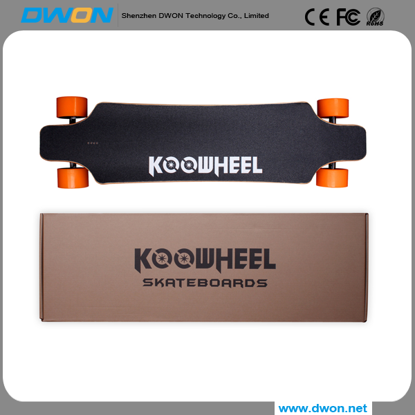 250W x 2 Power and 2H(output 2000MA) Charging Time four wheel self balancing electric scooter/ electric boosted skateboard