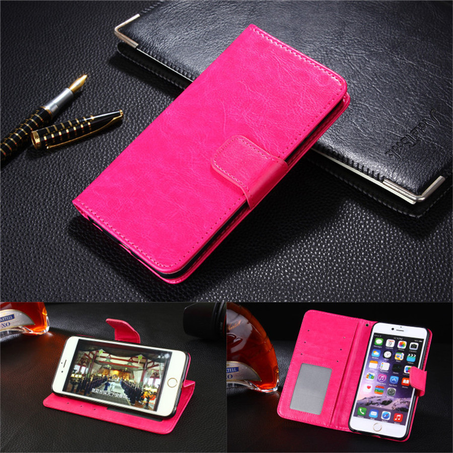 For Huawei G9 Plus Stand Wallet Cover Hit Color Leather Card Slot Flip Mobile Phone Case