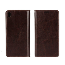 C&T Ultra Thin Smart Phone Case Flip Leather Wallet Case For Sony Xperia XA