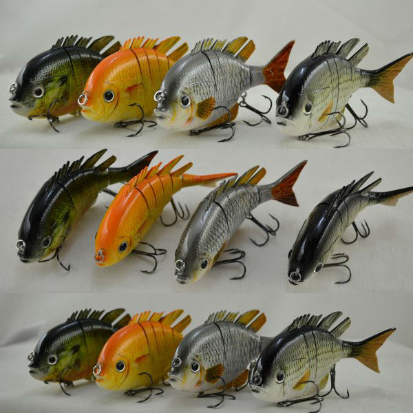 2016 Hot Sale 4inch 14g Sun Fish Floating Multi Jointed Fishing Lures