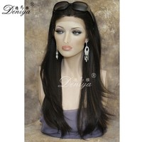 Part anywhere milky way 100% human hair lace front wig