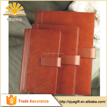 High Quality Brown Leather A5 B5 A4 School Notebook Durable PU Diary