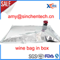 Plastic bag in box with valve for red wine
