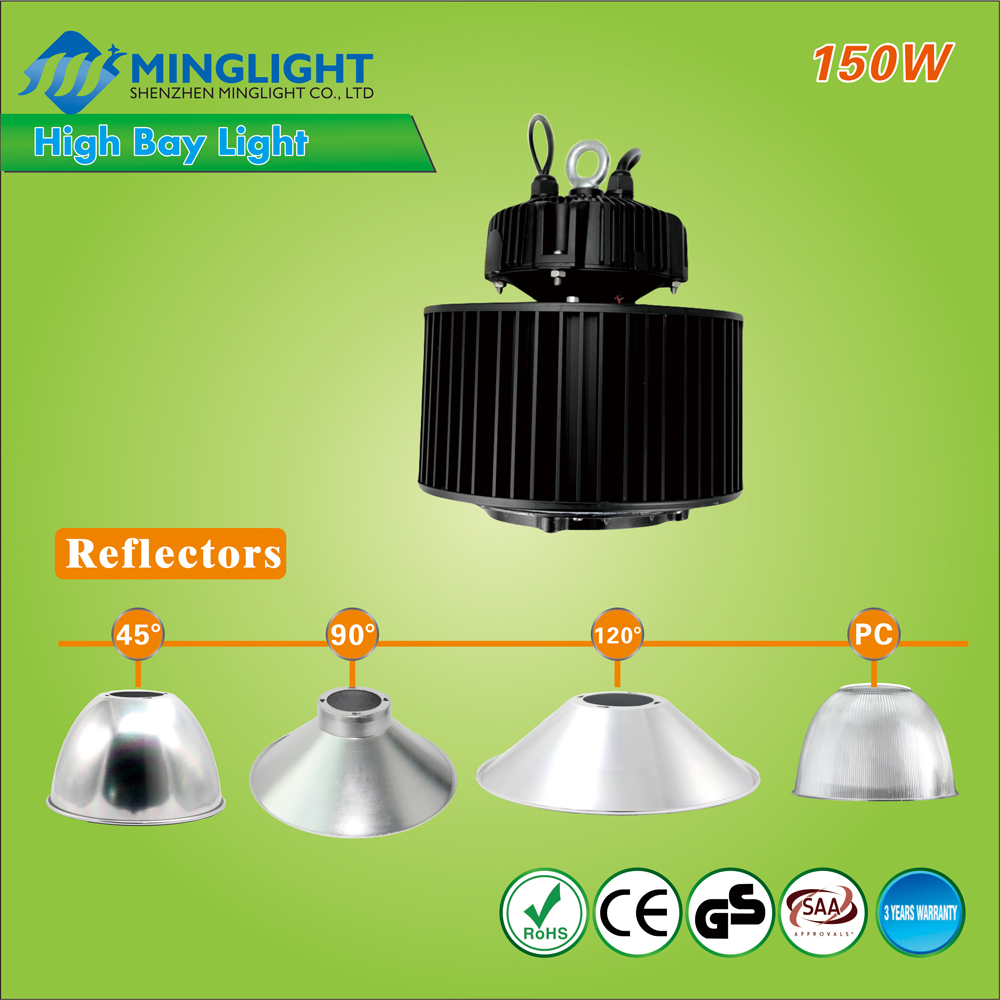 GS SAA CE RoHS dimmable 100w 150w 200w 250w high bay led lights