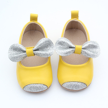 2017 design light leather girl party baby shoes