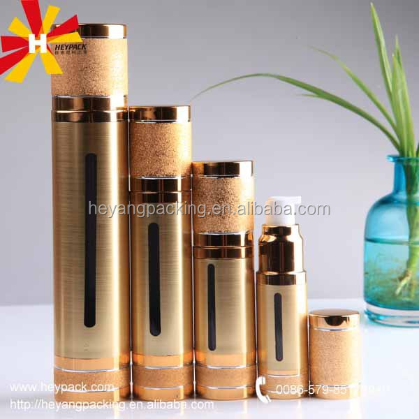 Beautiful Luxury golden plastic bottles for cosmetic