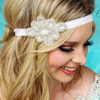 High quality rhinestone headband wedding ornaments hair accessories bridal hair piece crystal with colorful bands