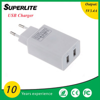 Wholesale 2 port usb charger EU US UK AU SA Plug, usb phone charger