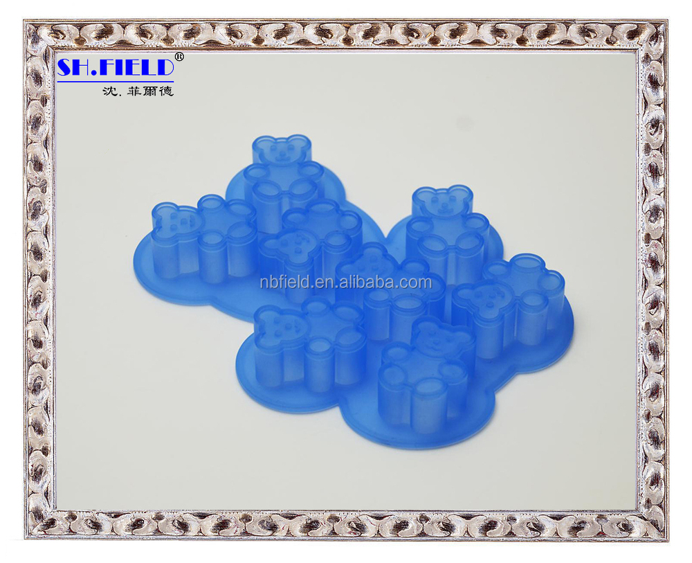 Icecream cup silicone ice cube tray