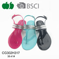 New jelly pvc thong women sandals