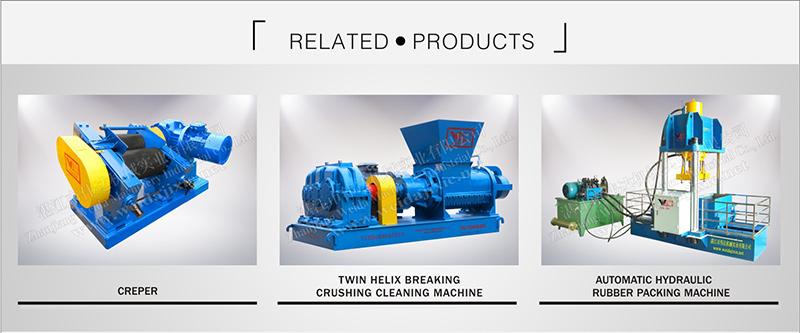 dry prebreaker twin helix pre breaker natural rubber mixing machine